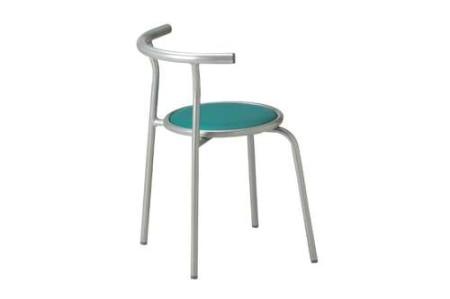 丸椅子に背もたれが付いた会議椅子
