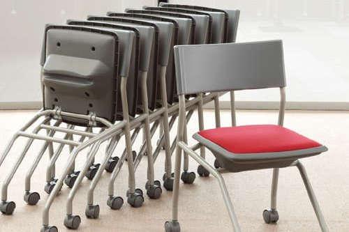 水平スタッキング・平行スタッキングの会議椅子